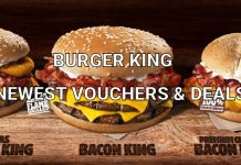 Burger King Newest Vouchers & Deals for UK