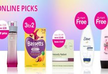 Superdrug promotions 18 May 2020
